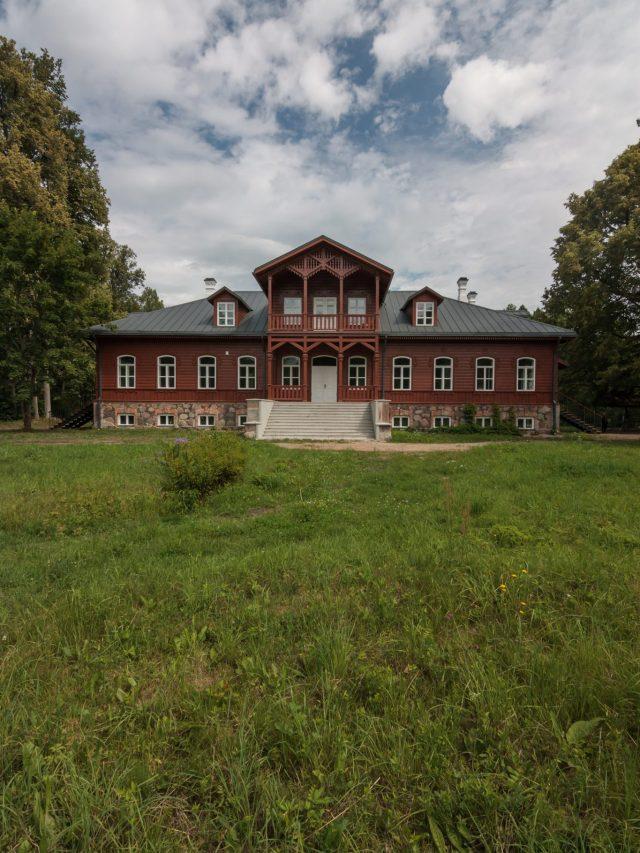 Vilkiškių dvaras - pagrindinis fasadas