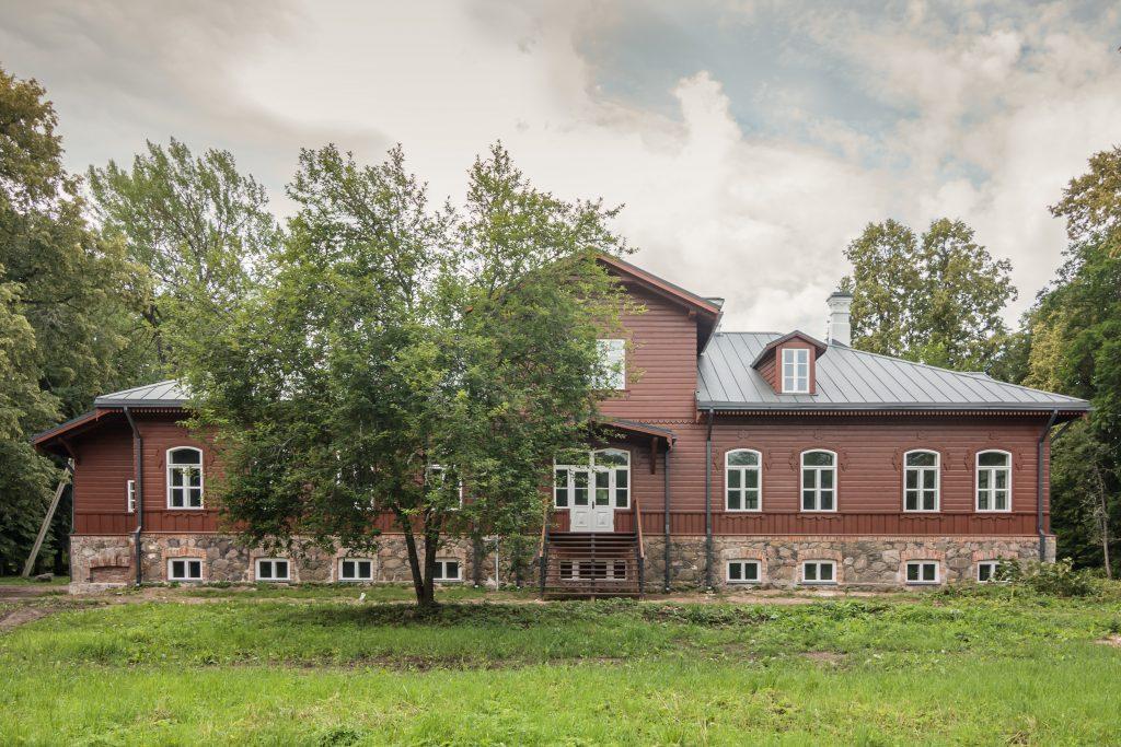 Vilkiškių dvaras - galinis fasadas