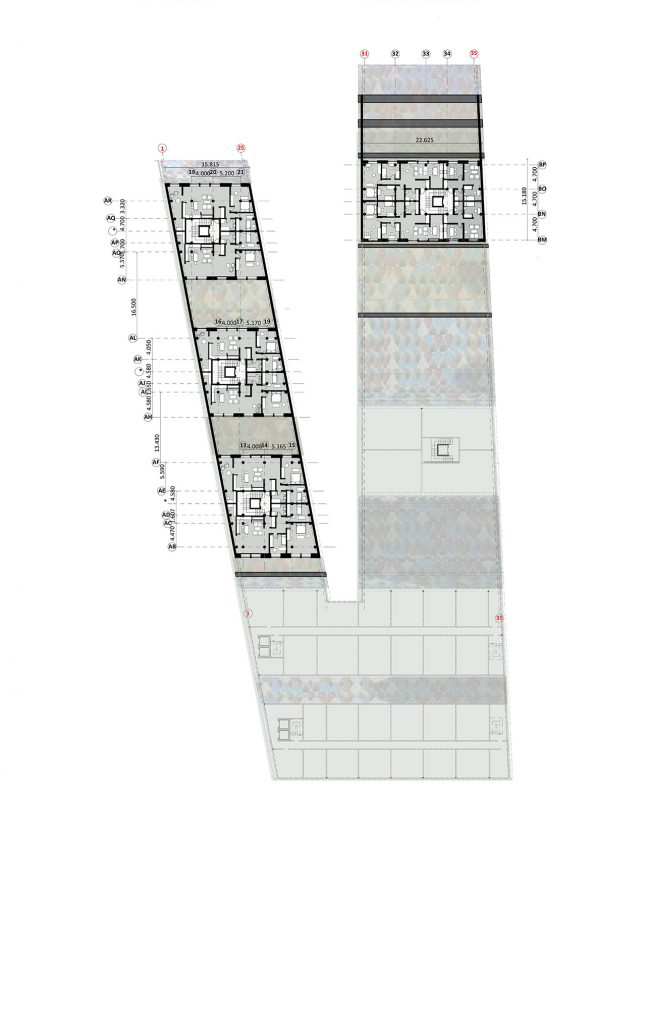 Multifunkcinis pastatas - aukšto planas