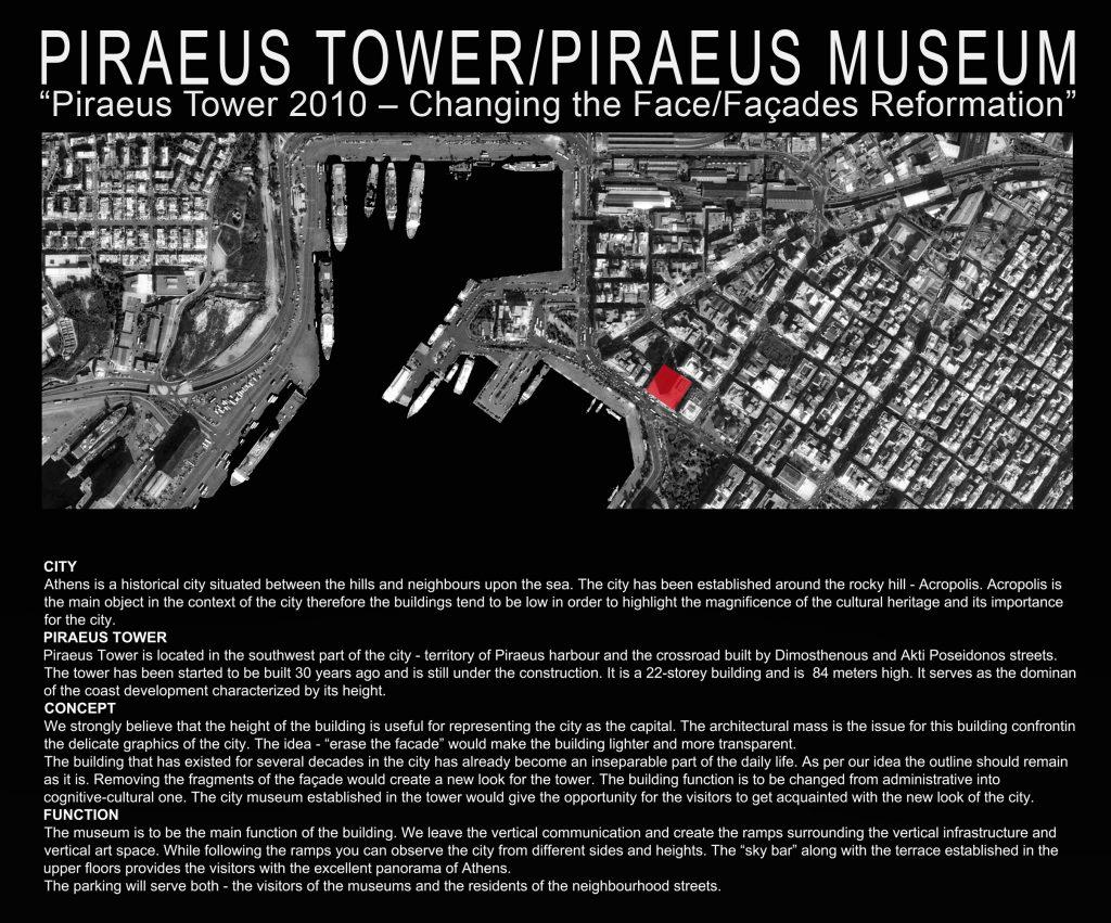 Pirėjo bokštas - situacijos planas