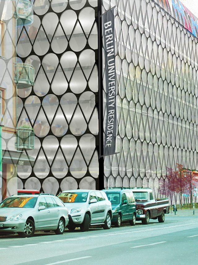 Multifunkcinis pastatas - vaizdas nuo gatvės