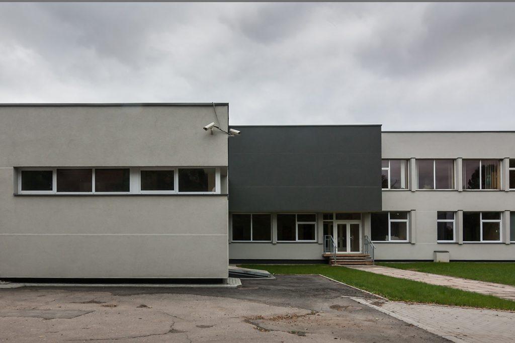 Profesinio rengimo centras - galinio fasado fragmentas
