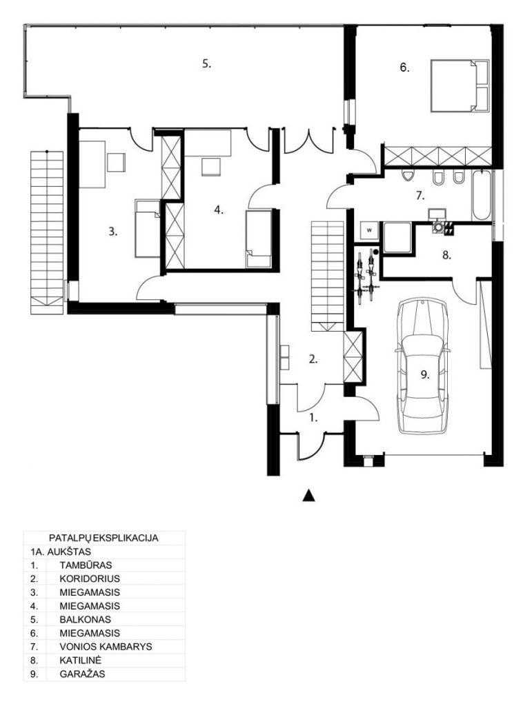 Gyvenamasis namas Kačerginėje - 2a. planas