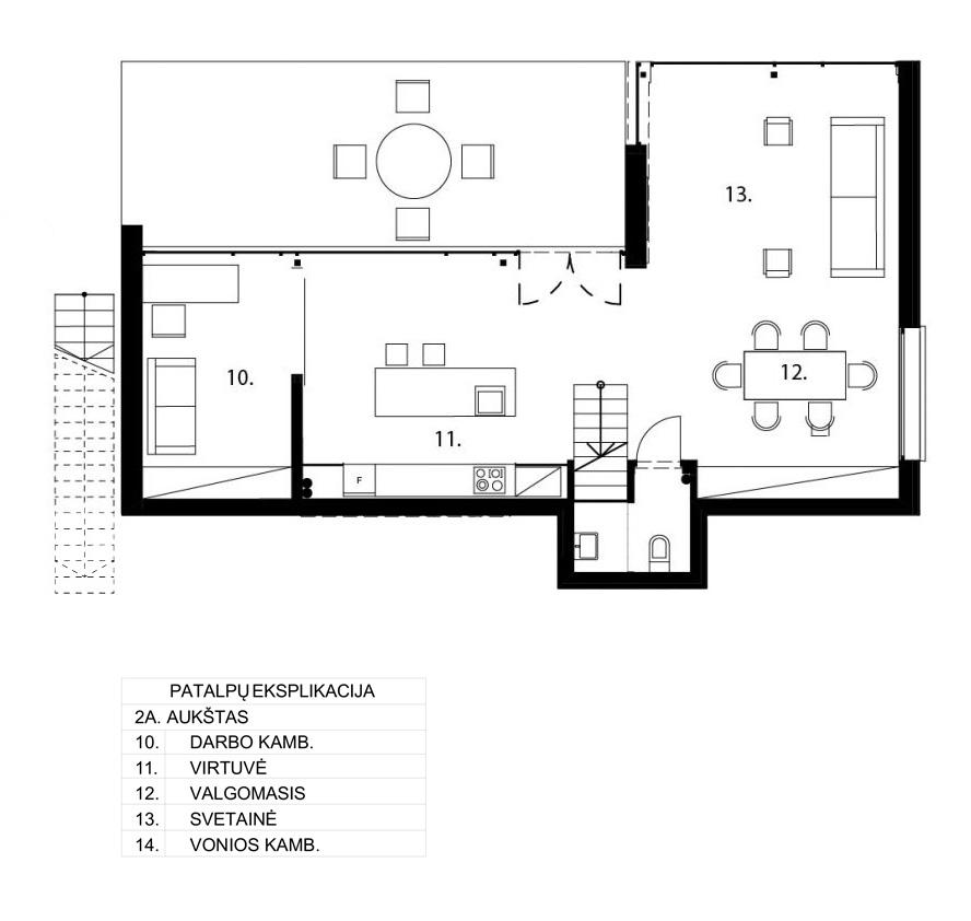 Gyvenamasis namas Kačerginėje - 1a. planas